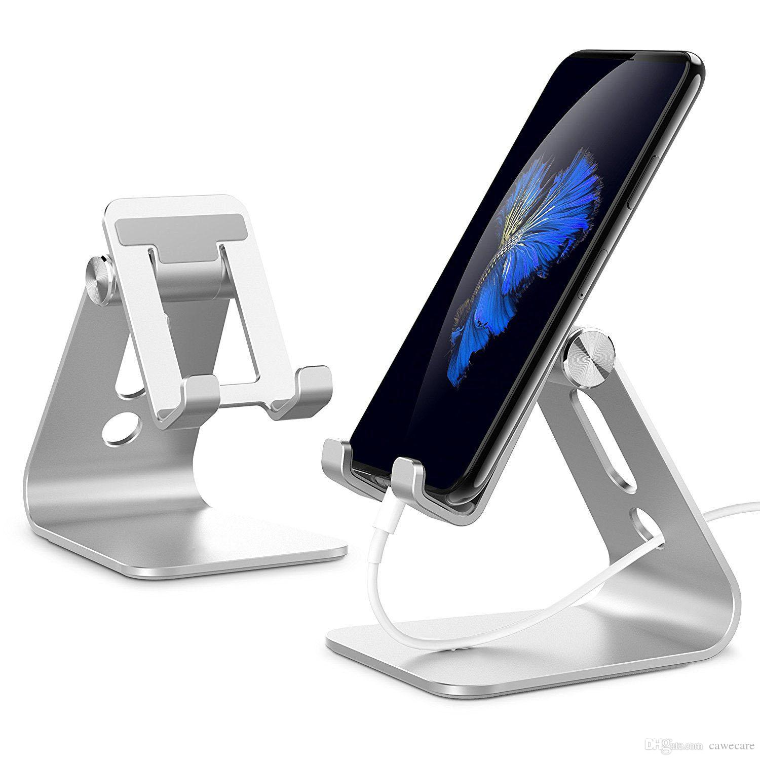 Cac030 Est 10x Desktop Phone And Tablet Stand Cradle Dock For All Cell Iphone Android Tablets Ipad Holder Desk 360