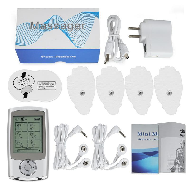 16 Modes Electronic Pulse Massager Pain Relief TENS Unit Machine Muscle Stimulator Electro Therapy Body Massage Device
