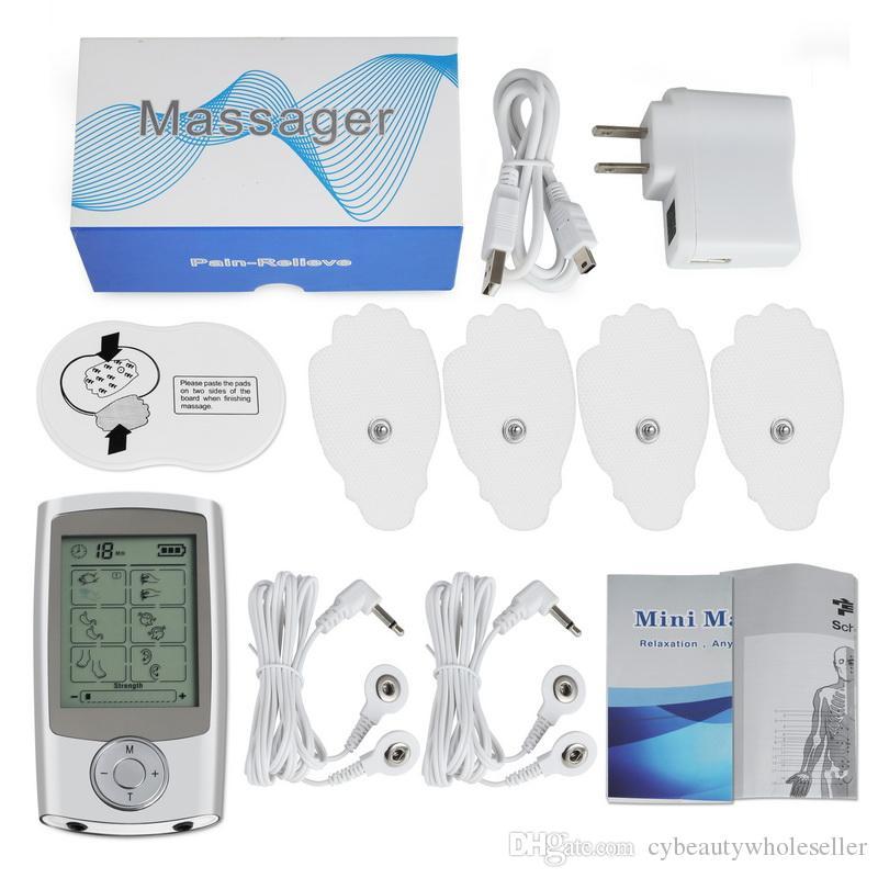 16 modos de pulso electrónico masajeador alivio del dolor unidad TENS máquina estimulador muscular electro terapia dispositivo de masaje corporal