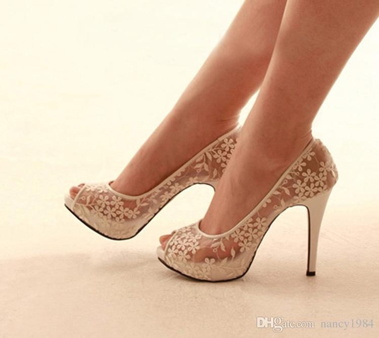 امرأة جديدة سيدة مثير للأزياء الراقية أحذية عالية الكعب زقزقة اصبع القدم حفلة موسيقية مساء حزب اللباس أحذية الزفاف أحذية الزفاف