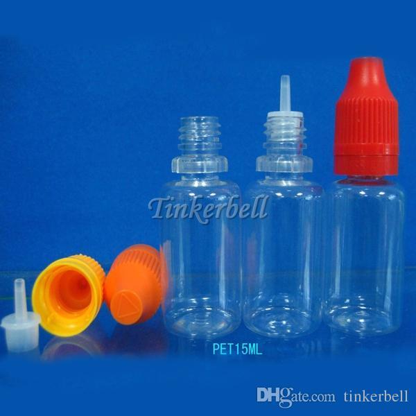 2015 High Quality Thin Long Mouth Dropper Bottle Plastic Child Proof Needle Bottles Long Nose Smoke Oil Bottles