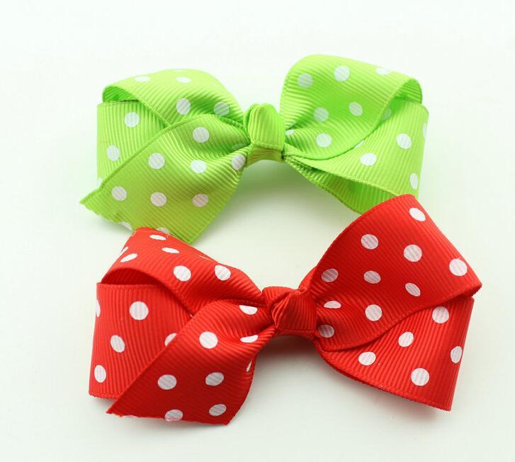 Hot Selling 3 inch Sweet Girls' Hair Accessories hair bows hairs clip grosgrain ribbon Bows HD3298