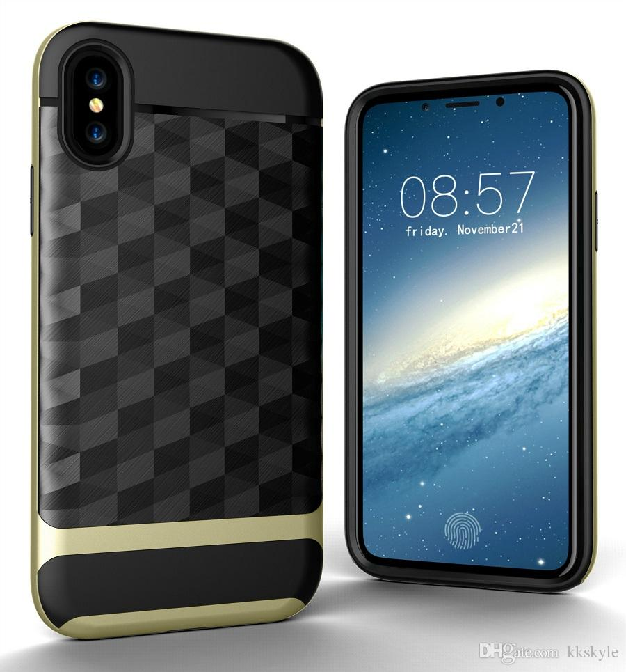 "For iPhone X Case,3 In 1 Ultra Thin and Slim Hard Case Coated Non Slip 3D Prism Surface with PC Frame for Apple iPhone X 5.8""2017"