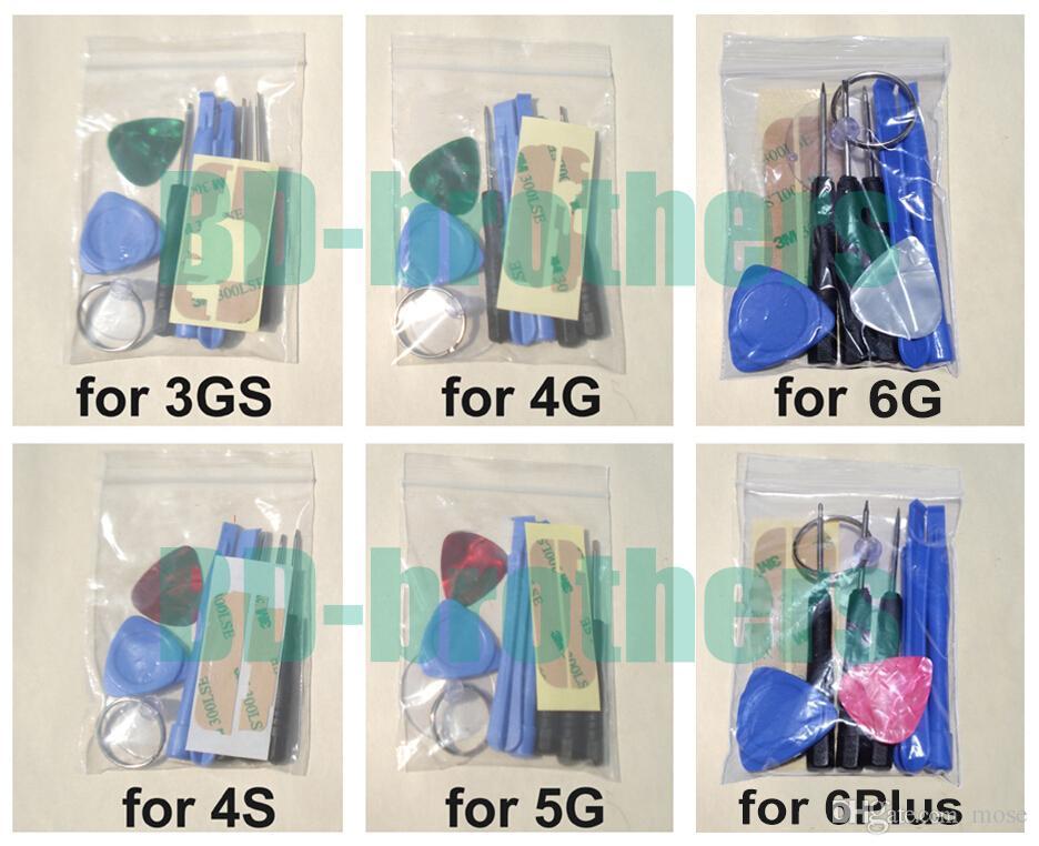 Kit de herramientas de palanca 9 en 1 para abrir Kit de herramientas PARA Apple iPhone 3G 4 4G 4S 5 5G 5S 6G o 6 más