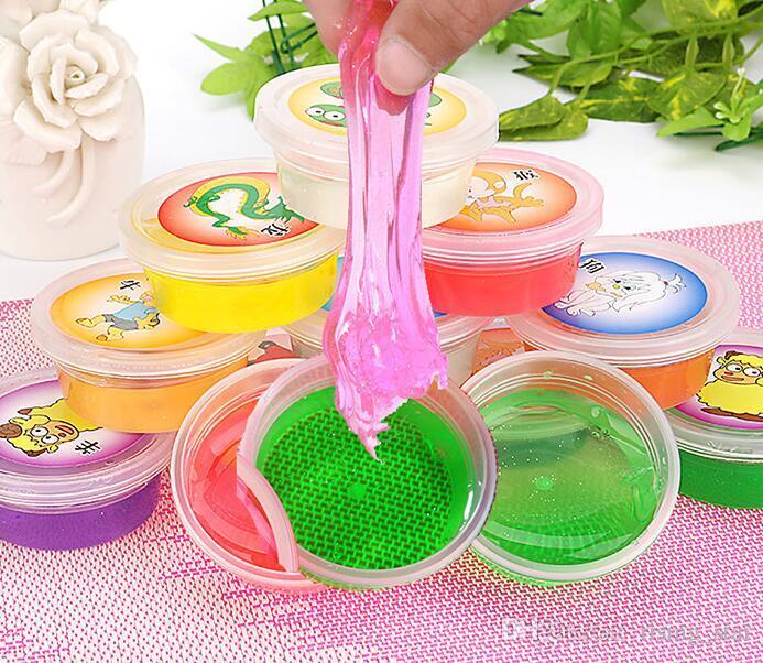 Hot limo arcilla colorido limo juguetes barro arcilla no tóxico protección ambiental limo divertido juguete puede soplar burbujas dibujar regalo de Navidad para niños