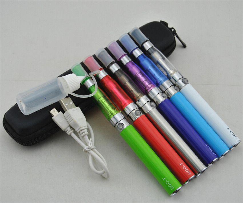 e cigarettes CE4 eGo zipper case single kit CE5 Atomizer Clearomizer ugo t 650mah 900mah 1100mah passthrough battery electronic cigarette