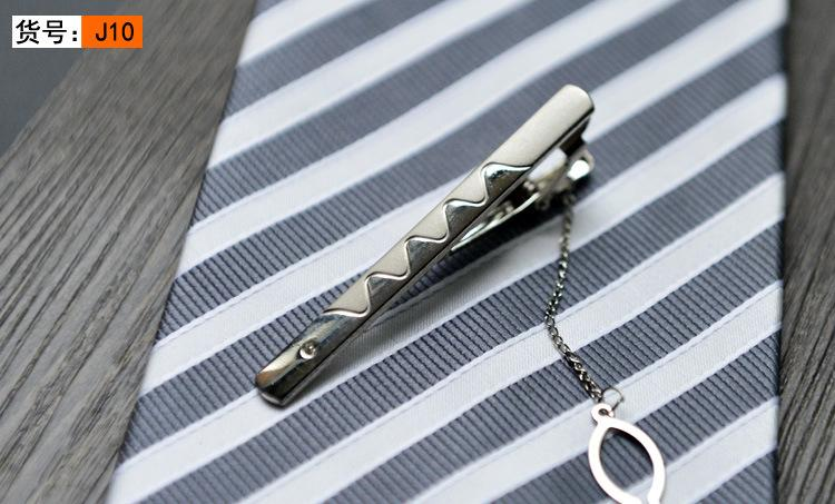 Silver Tie Clip 10 Styles Tone Metal Clamp Jewelry For Business man Necktie father Tie Clip mens tie clip Christmas gift Free TNT FedEx