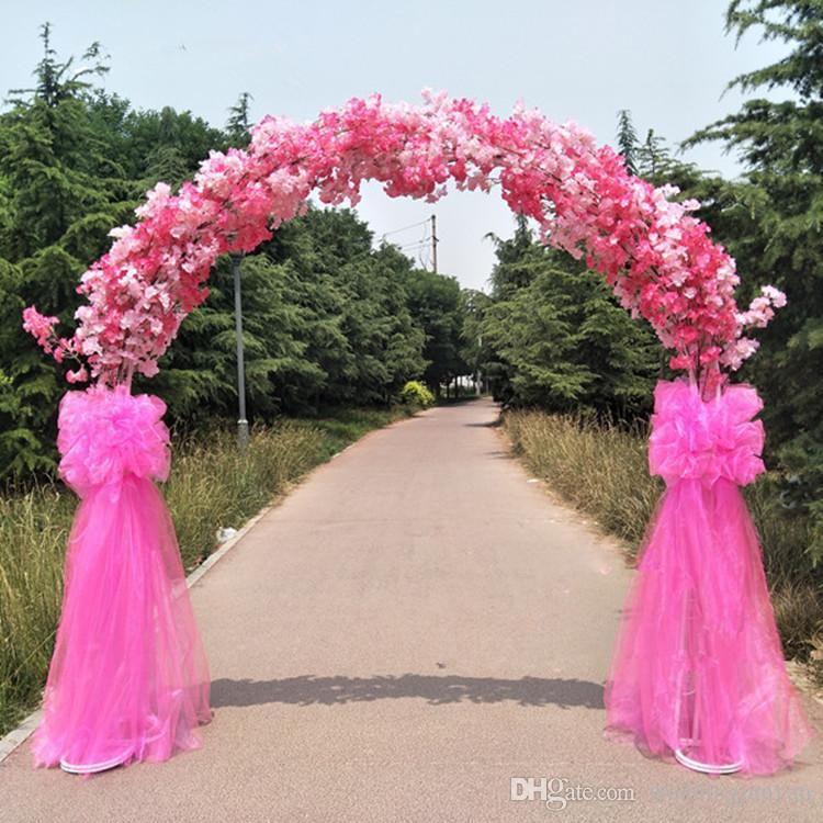 Upscale wedding centerpieces metal wedding arch door hanging upscale wedding centerpieces metal wedding arch door hanging garland flower stands with cherry blossoms for wedding favors party decoration wedding party junglespirit Gallery