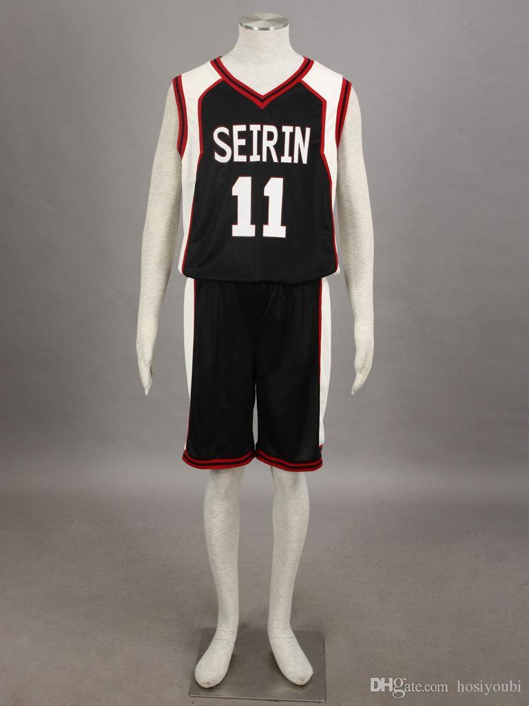 778ee06eb Compre Kuroko No Basketball Basquete De Kuroko Seirin High School Kuroko  Tetsuya Camisa Preta No.11 Manga Curta Cosplay De Hosiyoubi