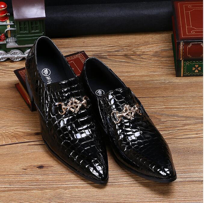 2016 Top Luxury Italy Brand Fashion Men Pointed Toe
