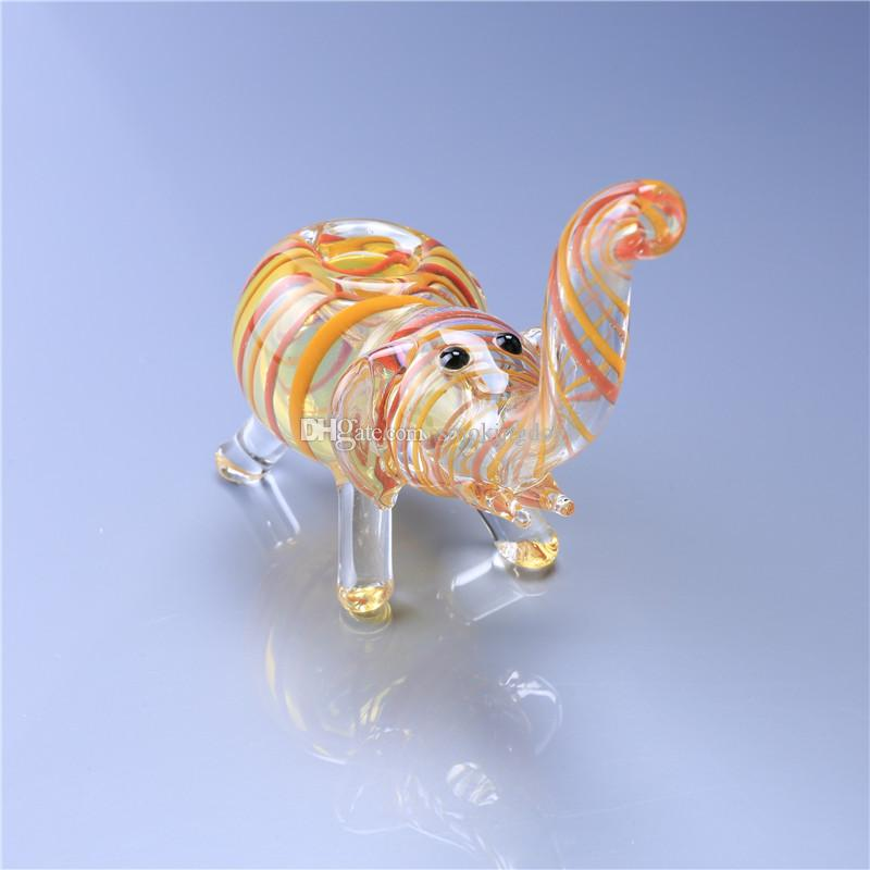 Smoking Dogo Wholesale Elephant Hand Made Smoking Glass Pipes Bubbler Glass Bong Glass Pipes Water PP-070