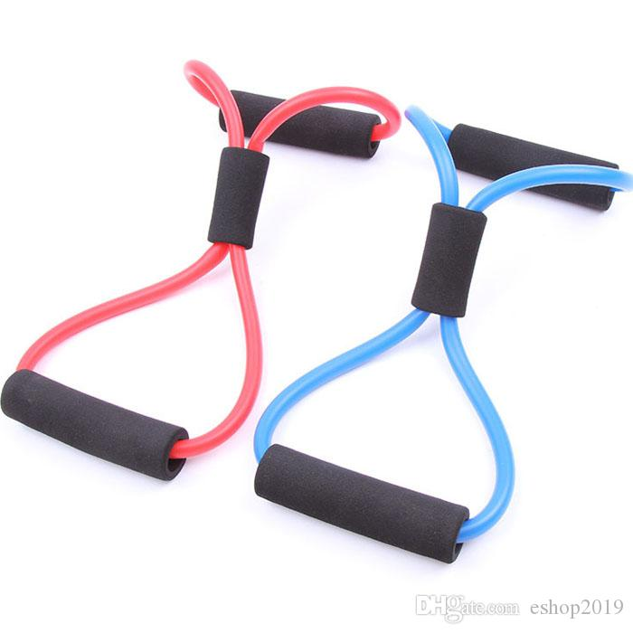 Новые прибытия сопротивления тренировочные полосы трубки тренировки Упражнения для йоги 8 тип мода бодибилдинг фитнес-оборудование инструмент