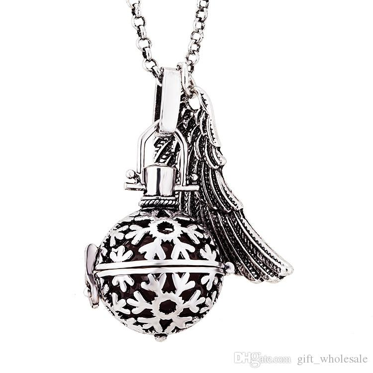 New Pregnancy Ball Bola Nickel Black Angel ball in Pendants Baby Chime Necklace Jewelry With Chain
