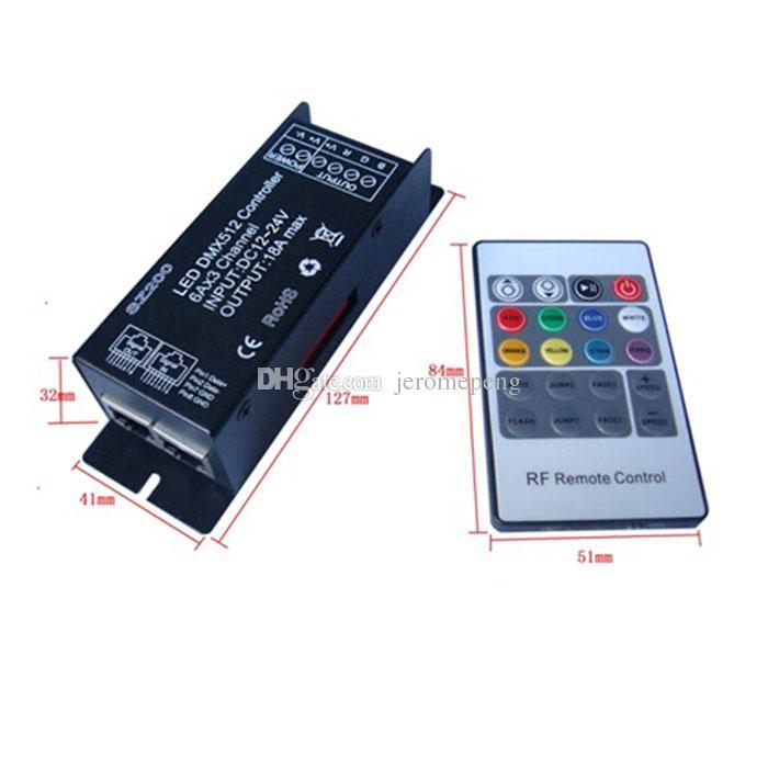 Programmable dmx 512 rgb led strip light controller 12v 24v dc see larger image mozeypictures Gallery