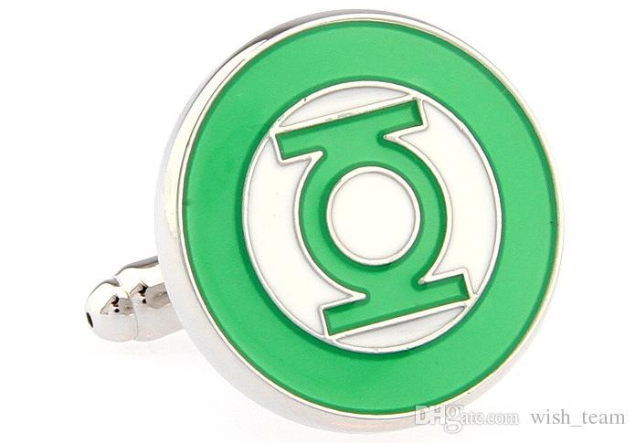 Зеленый Фонарь запонки для мужчин рубашка запонки высокого quanlity мужчины запонки wholesaleretail бесплатная доставка wish_team W245