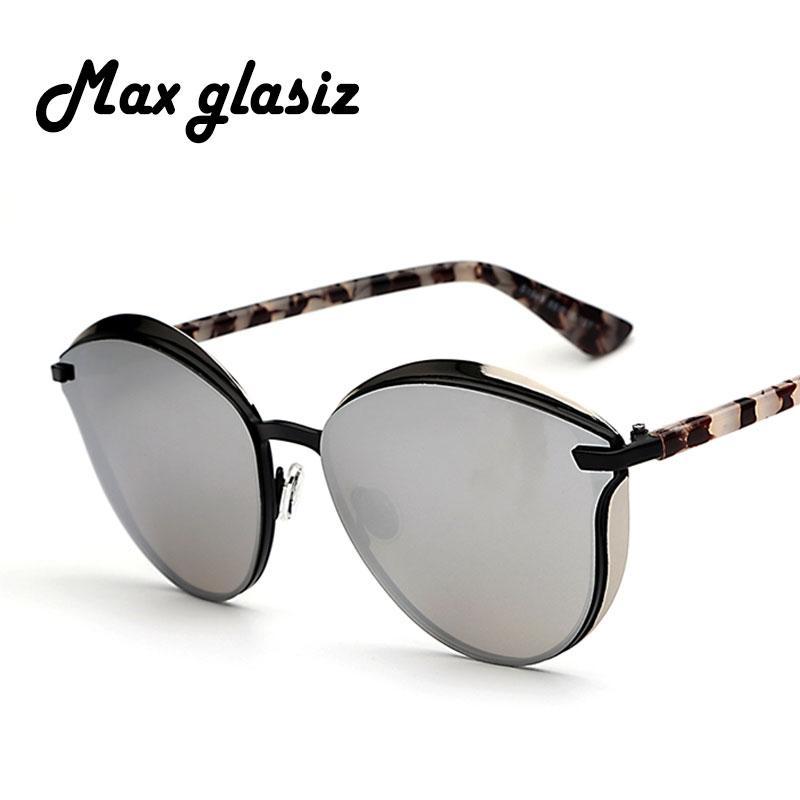 Compre Al Por Mayor Max Glasiz Gafas De Sol Mujeres Espejo Redondo Lentes  Elegantes De Encaje Unisex Gafas De Sol Sunglases Ladies Shades Oculos Gafas  De ... c6d2ea66b382