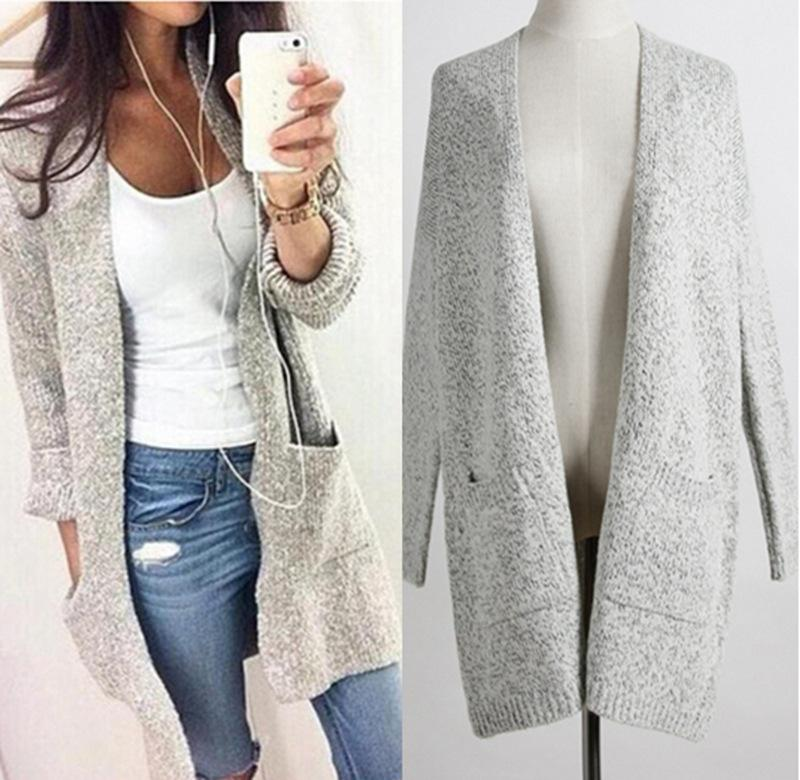 2019 Women Cardigan Sweater Lady Long Knitted Plus Size Coat Casual Loose  Poncho Women Sweaters Knits From Ilovefashion fecc9bd83