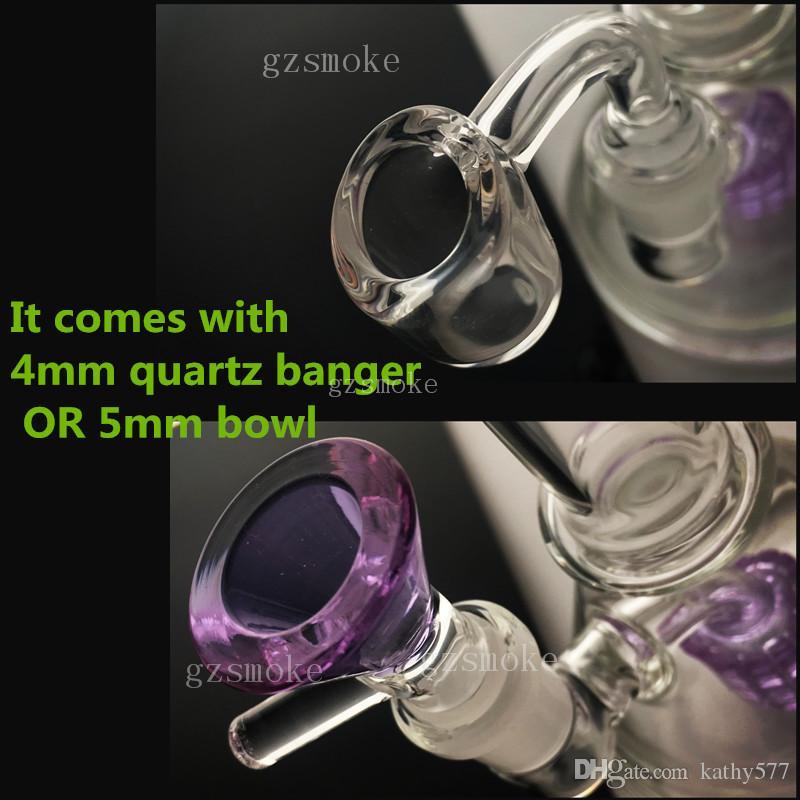 유리 비커 봉 매트릭스 봉 미니 워터 파이프 percolator bubbler pipe14mm 유리 그릇 Dab Rigs 오일 왁스 Rog Zob Hitman with quartz banger