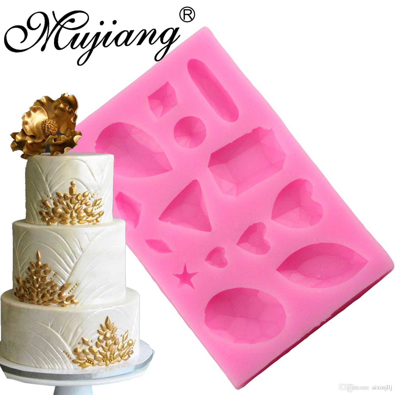 2018 3d Diamond Cake Border Silicone Fondant Molds Wedding Cake ...