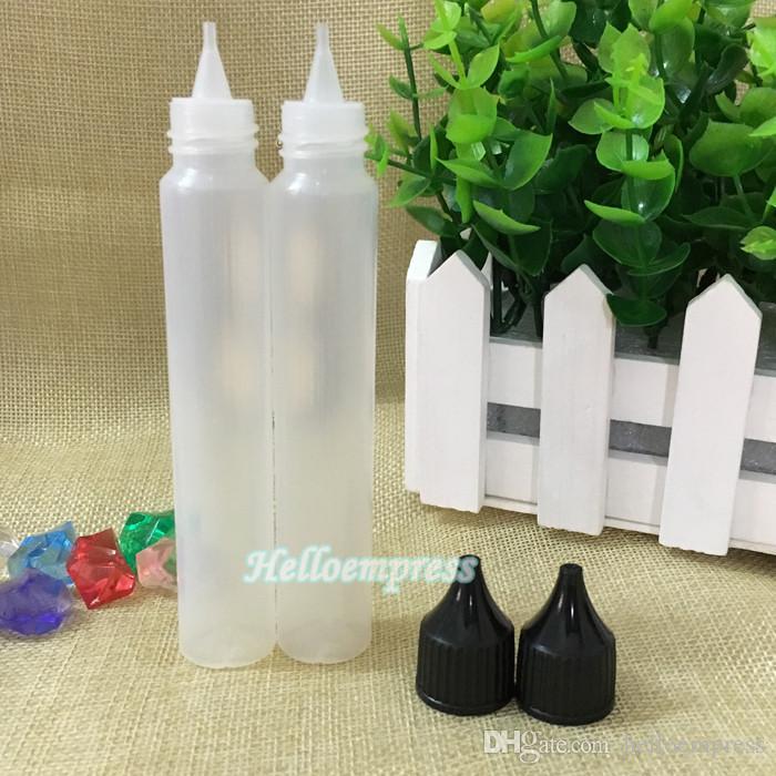 New cap 30ml plastic pen shape dropper bottle PE e-liquid bottle black white 30ml PE material pen bottle made in China