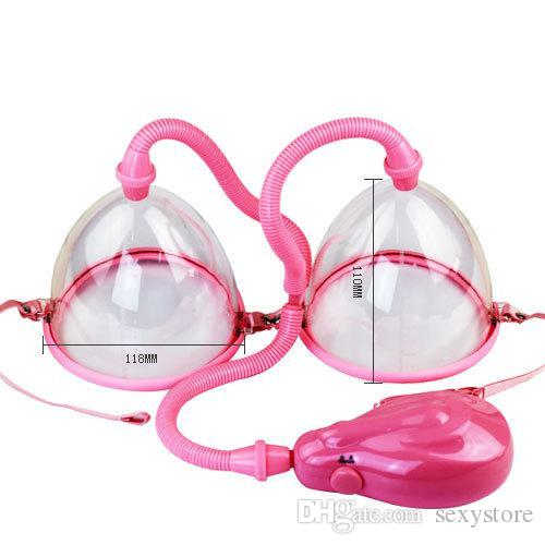 Dispositivo di aumento del seno elettrico di vendita calda, tiralatte a vuoto, potenziatore del seno, messager ingranditore reggiseno femminile con due tazze