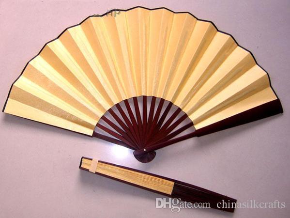 Plain White Hand Fans Large Chinese Silk Folding Fan DIY Wedding Fans Personalized Adult Fine Art Painting Program