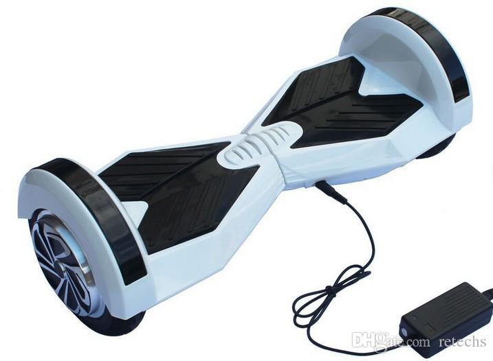 Scooter de cromo LED en lado eléctrico Hoverboard Self Balance Scooter 8 pulgadas Samsung Batería 4400mAh Scooter eléctrico Scooter de equilibrio inteligente