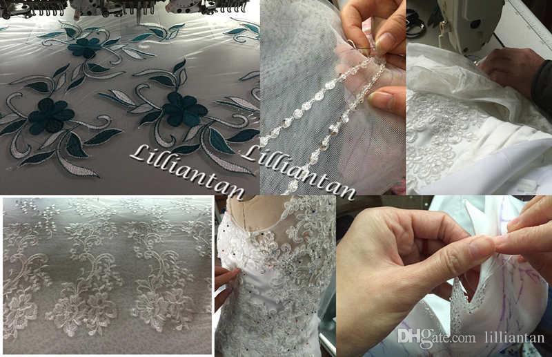 Designer Weiß Mutter Braut Anzug Kleider mit Jacke Grau-Spitze-formalen Abend-Kleid-Partei-Ausstattungs-Mutter der Braut-Kleid-Klage