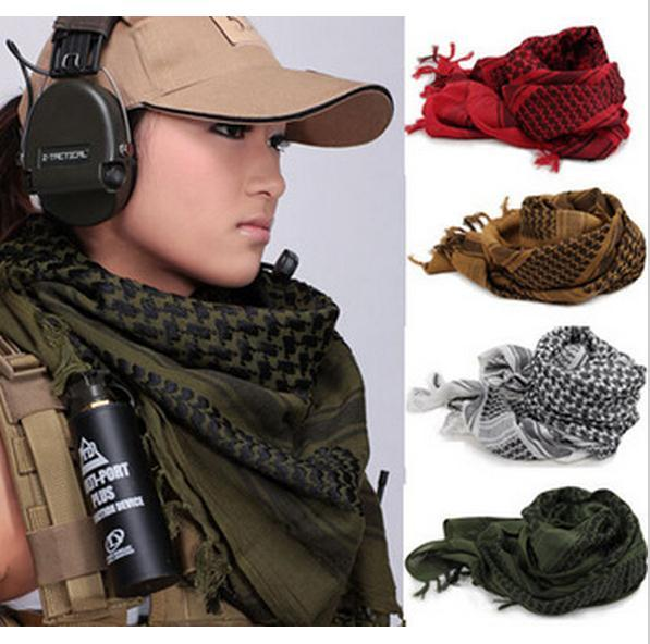 Cotton Military Arab Scarf Mens Winter Windproof Scarf Muslim Hijab Tactical  Desert Arabic Keffiyeh Women Scarves Factory Sales DHL FREE Fur Scarf  Hooded ... d3a743818