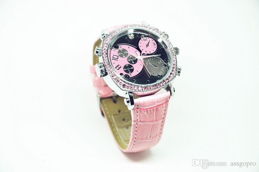 Mini orologio da polso le donne IR Night Vision Registrazione HD 1080P Exquisite Watch Camera Supporto Registrazione vocale Mini DV Watch Camera