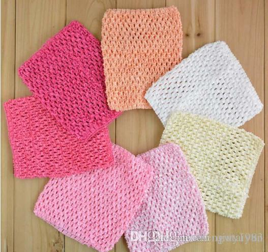 Baby Gir 6inch Crochet Headhand Tutu Tube Tops Chest Wrap Wide
