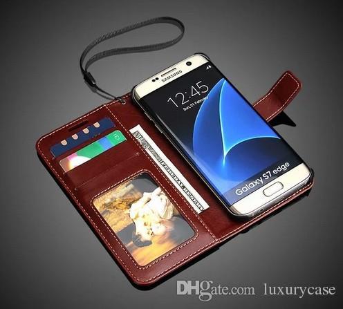 삼성 S7 가장자리 케이스 플립 커버 지갑에 대 한 슬링 지갑 삼성 갤럭시 S7 가장자리에 대 한 럭셔리 원래 다채로운 슬림 가죽 케이스