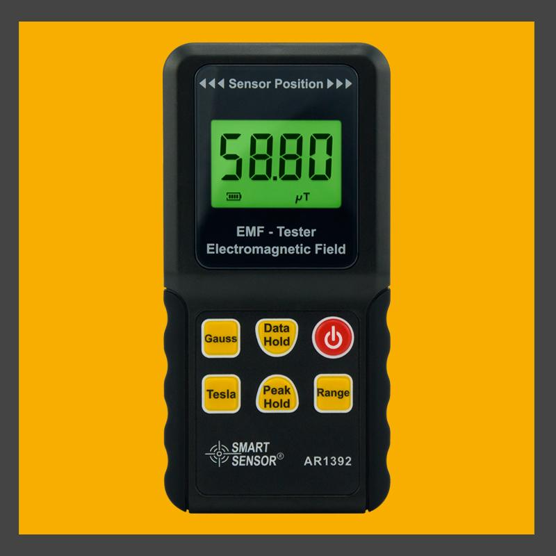 Handheld EMF Meter Electromagnetic Field Tester Range 0-2000mG 0-200uT  AR1392