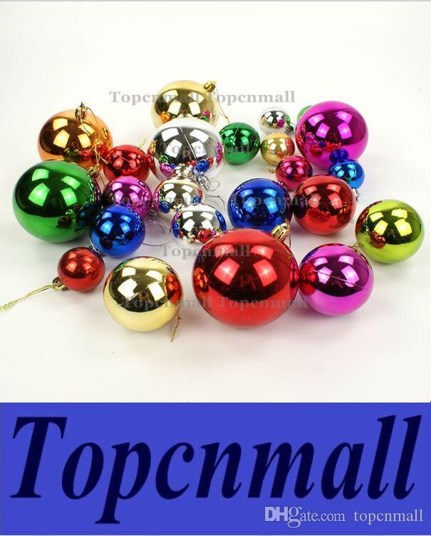 6cm large shiny multi color christmas bell balls plastic tree hanging item ornaments decorations seasonal deco designer christmas decorations discount