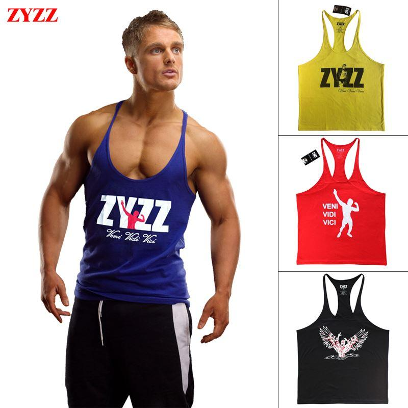 Tank Top Hombre Marca ZYZZ GASP Gold Gym Fitness Singlets Culturismo Stringer Ropa Muscular Camisa Chaleco Regata Masculina Ropa