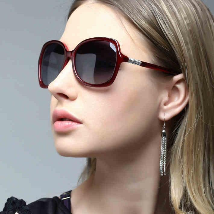 polarized sunglasses women  Fashion Big Frame Sunglasses For Women Polarized Sunglasses ...