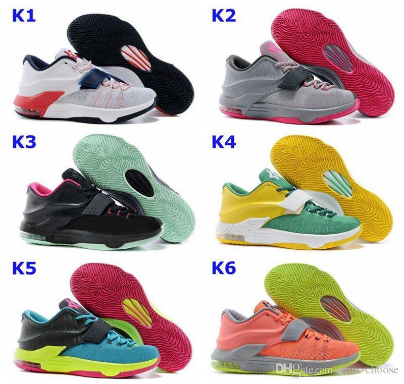 Compre KD7 Deporte Lo Nuevo De Zapatos Kevin Durant KD 7 Baloncesto ...