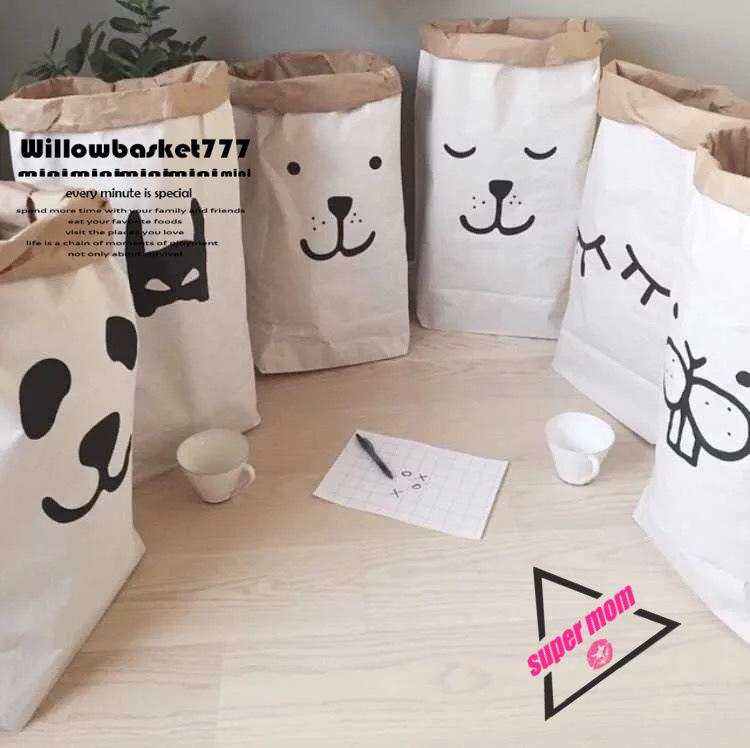 2018 2016 Ins Hot Home Storage Paper Bags Cartoon Animal ...