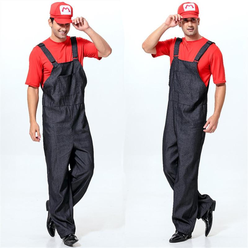 2016 Super Mario Brothers M Delivery Courier Overalls Masquerade ...