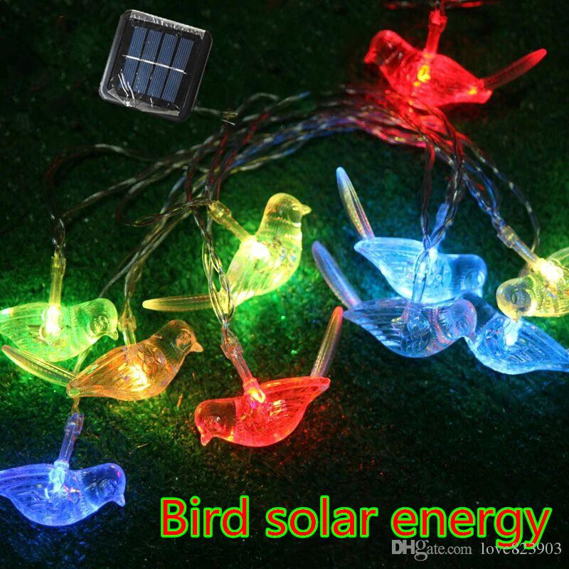 Hot 2.5m 10led Bird Solar Lights Animals Led Small Night Lamp Children Room  Decoration Christmas Garden Decorative Light String Novelty String Lights  String ...