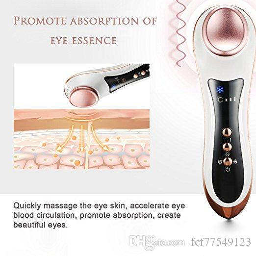 Tamax Eye Massager cerchi scuri e gonfiore Skin tighting Martello freddo caldo Dispositivo antirughe antirughe