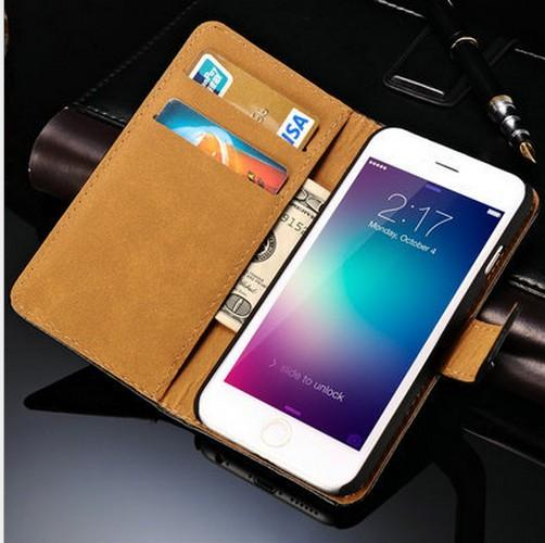 """for iPhone 6 plus Wallet Case With Card Slot PU Flip Leather Case Cover For IPhone 6 4.7"""" 6Plus 5.5"""" 4 4S 5 5S Samsung Galaxy S4 S3 S5 NOTE"""