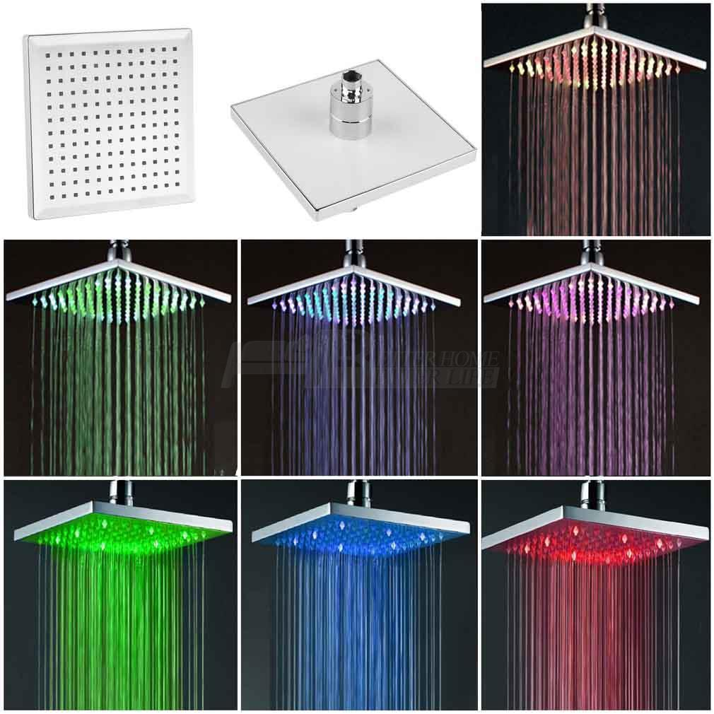 2019 Changing Rainfall Shower Head 8square Temperature