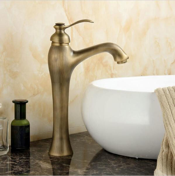 2018 12 Antique Brass Faucets Bathroom Basin Faucet Kitchen Sink Mixer Tap  Af1023 From Wzxiri, $54.58   Dhgate.Com