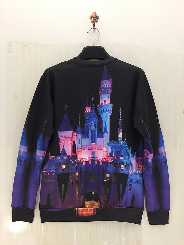 Raisevern beautiful Sleeping Beauty Castle print sweatshirt fairy tale women men funny hoodies sweet shirt crewneck cloth sale