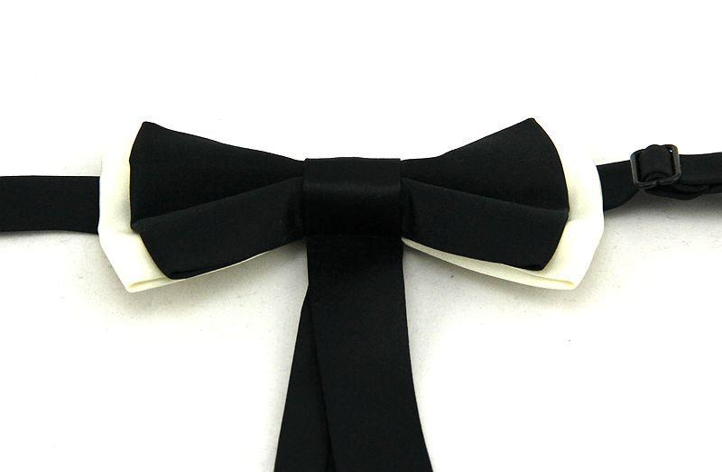 ruban bowknot cravate tendance cravate cravate en polyester pour hommes papillons adultes noeuds papillon hommes noir blanc