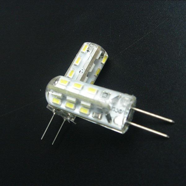 Led milho lâmpada G4 24 Leds 1.5W SMD 3014 DC12V luz de lâmpada 360 Ângulo de feixe LED Gel de Sílica G4