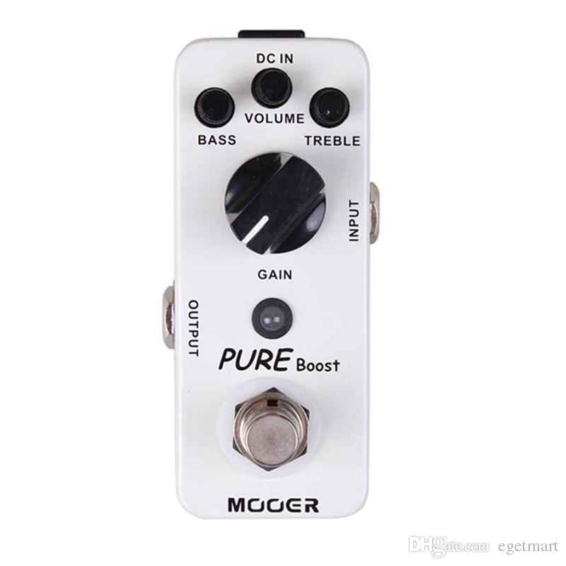 Mooer Pure Boost Boost Pedal 20db clean boost with 15db 2 band EQ Full metal shell True bypass