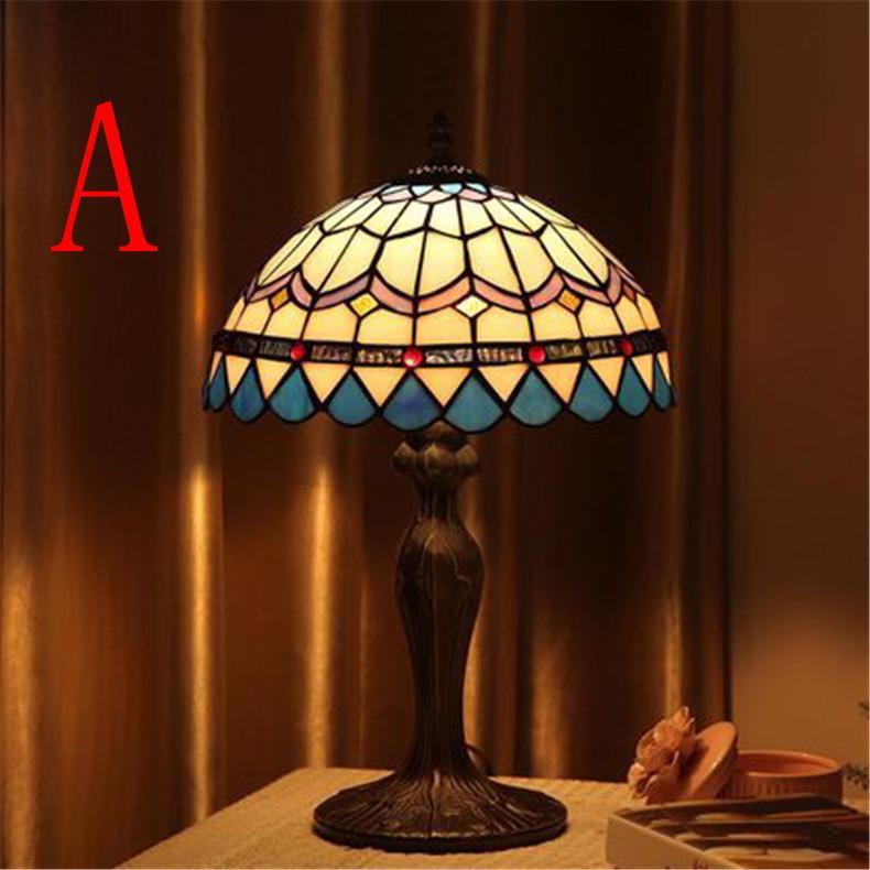 Table Lamps Creative Cafe Glass Popular Bedside Lamp Retro Study Room Garden Bar Style Vintage 3TFc1JlK