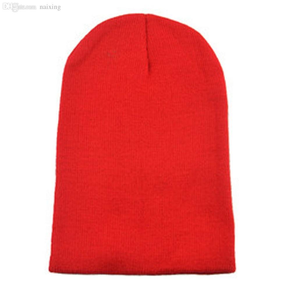 Wholesale Unisex Crochet Knit Thick Hat Beanie Beret Fluorescence